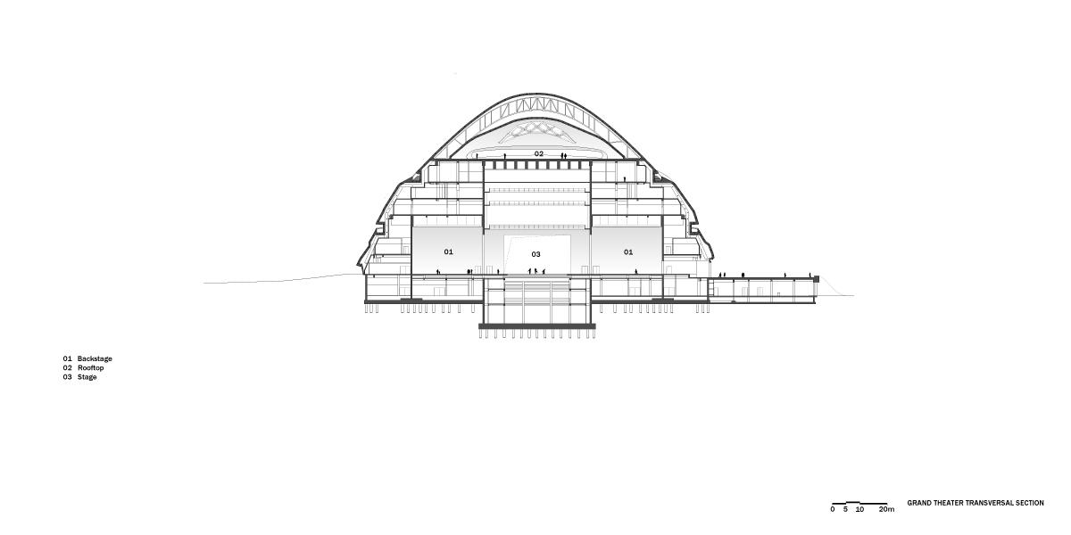 Kiến trúc nhà hát lớn đẹp ngất ngây- Mặt bằng thiết kế.03