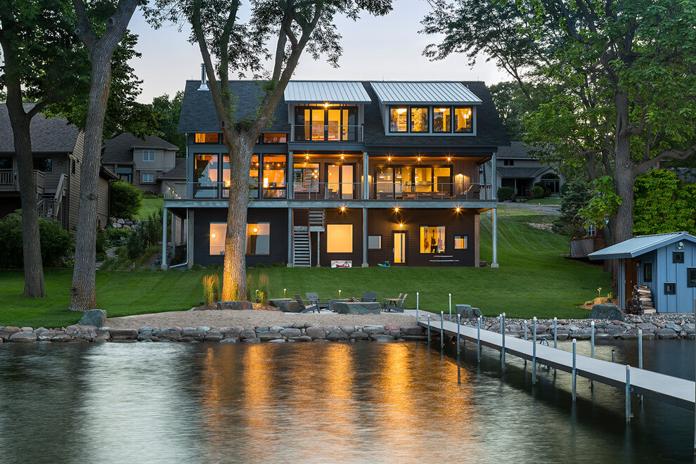 Khám phá kiến trúc nhà đẹp hiện đại cạnh hồ. Ảnh 01