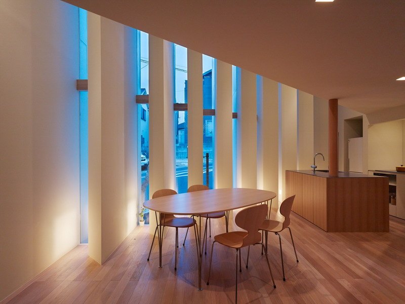 Kiến trúc nhà ống với thiết kế hình nan quạt - Ảnh 03