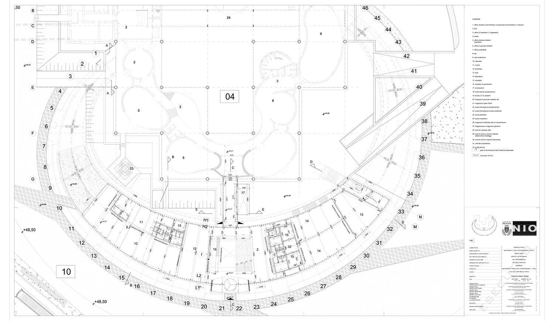 Kiến trúc trung tâm nghệ thuật đương đại Luigi Pecci. Bản vẽ 01