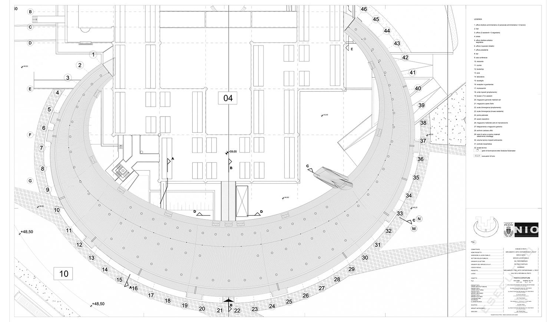 Kiến trúc trung tâm nghệ thuật đương đại Luigi Pecci. Bản vẽ 03