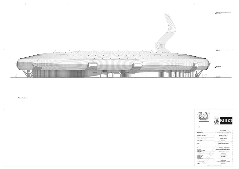 Kiến trúc trung tâm nghệ thuật đương đại Luigi Pecci. Bản vẽ 04