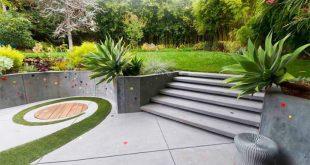 Làm đẹp khu vườn bằng những khối hình bê tông.1