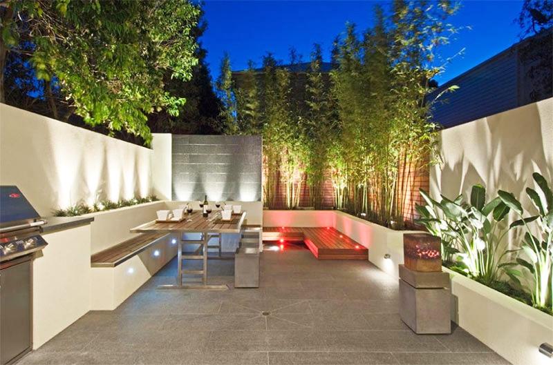 Làm đẹp khu vườn bằng những khối hình bê tông.2