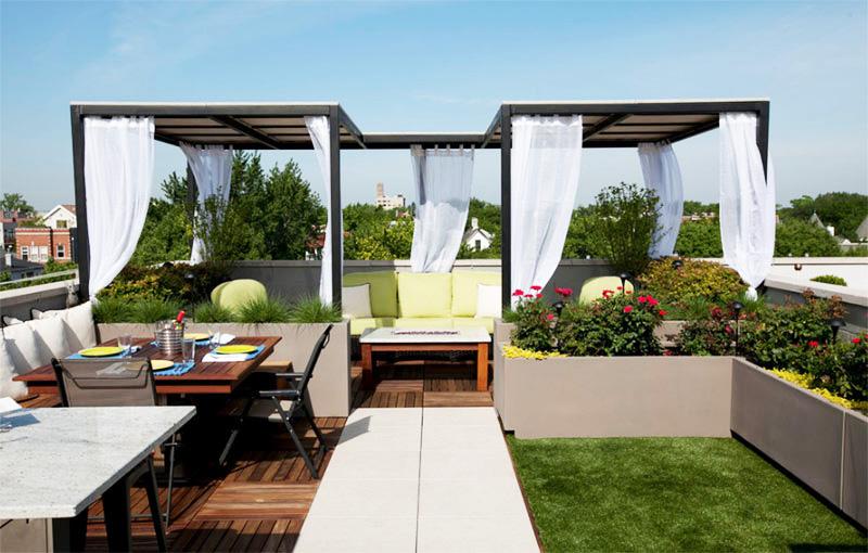 Làm đẹp khu vườn bằng những khối hình bê tông.3