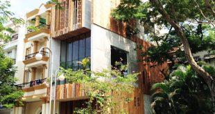 Mộc mạc với kiến trúc nhà ống ốp bằng gỗ - Ảnh 01