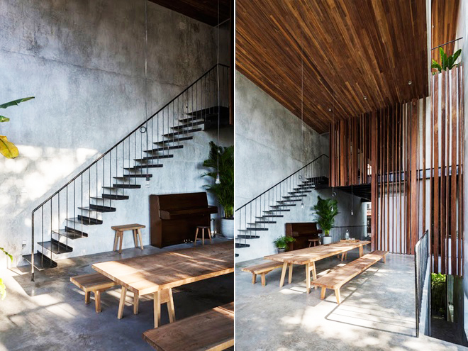 Mộc mạc với kiến trúc nhà ống ốp bằng gỗ - Ảnh 03