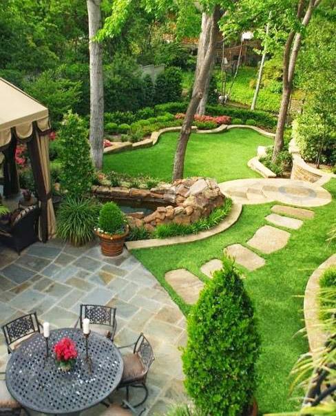 Những ý tưởng lối đi bằng đá khu sân vườn.1