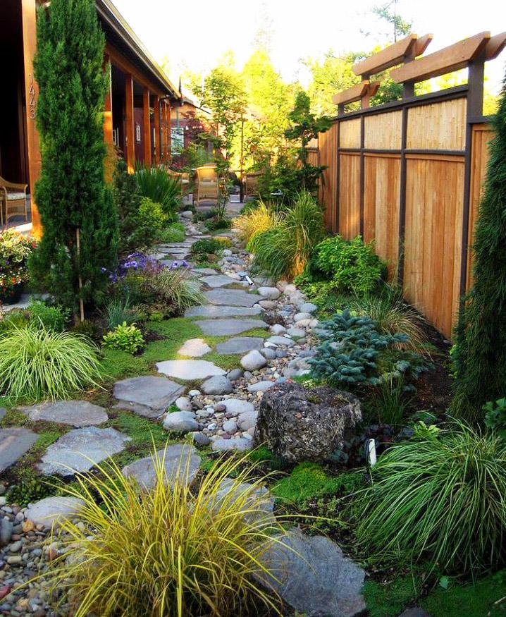 Những ý tưởng lối đi bằng đá khu sân vườn.2
