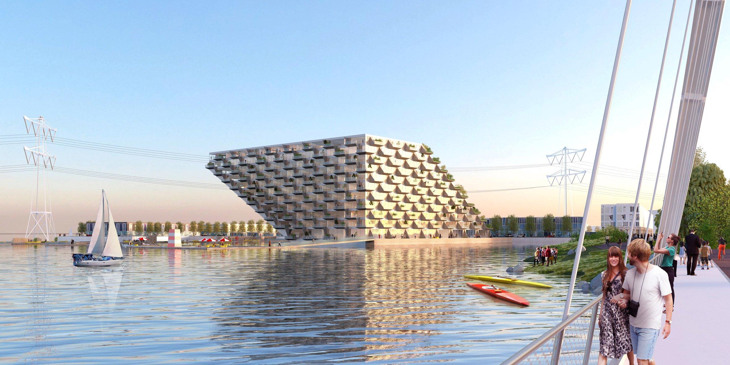 Sluishuis kiến trúc độc đáo tòa nhà thiết kế nổi.02