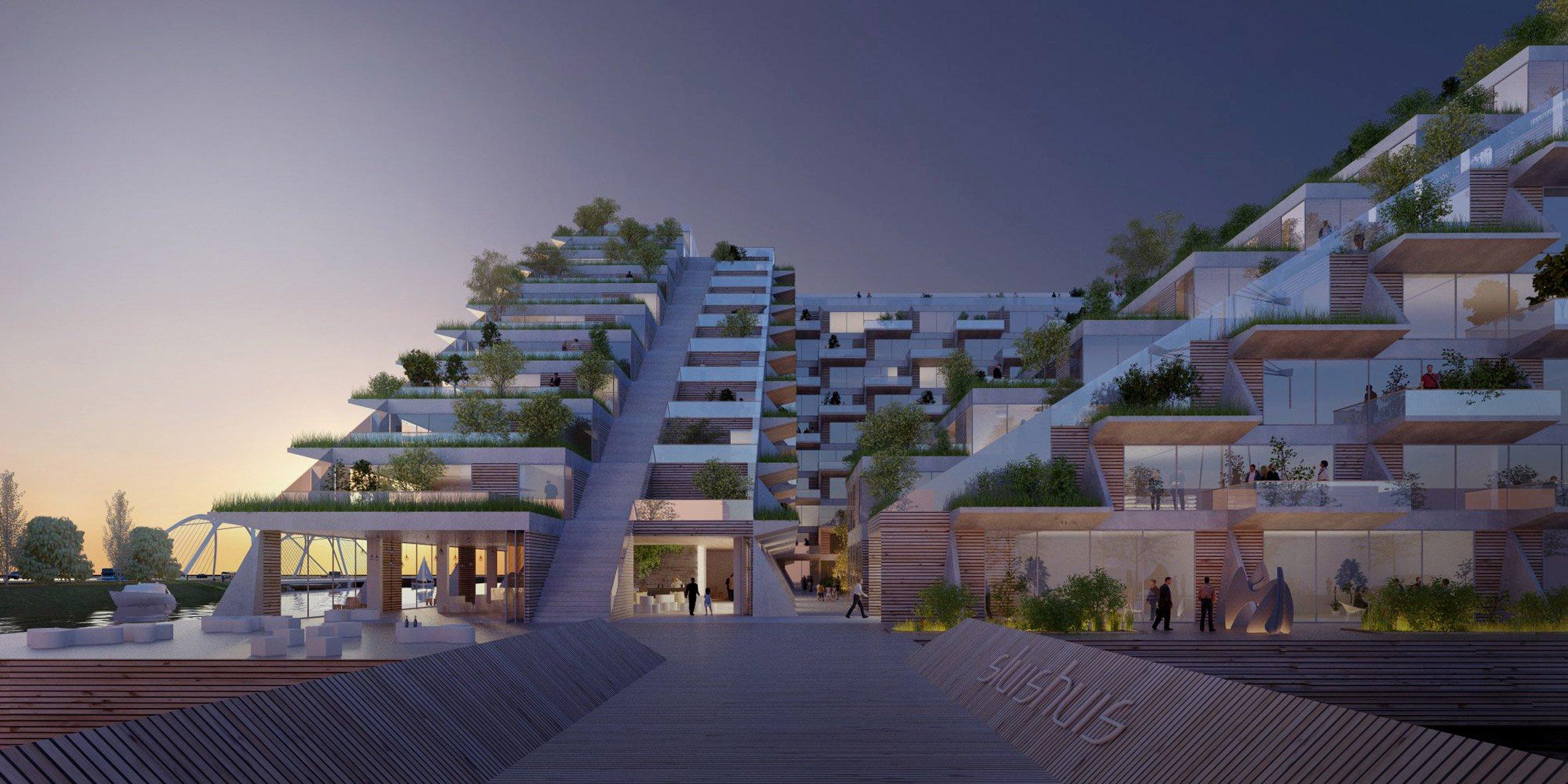 Sluishuis kiến trúc độc đáo tòa nhà thiết kế nổi.05