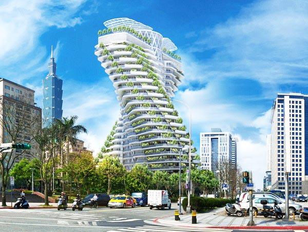 Kiến trúc tòa tháp cấu trúc xoắn ốc độc đáo.1