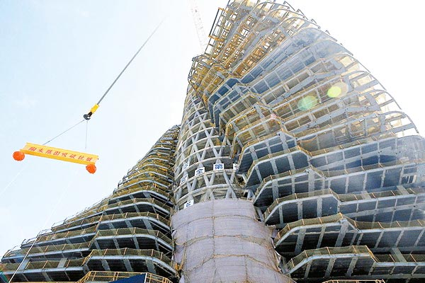 Kiến trúc tòa tháp cấu trúc xoắn ốc độc đáo.4