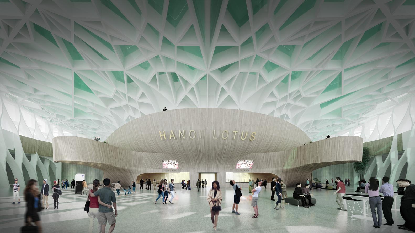 Kiến trúc trung tâm văn hóa nghệ thuật hình dáng bông sen vàng.5