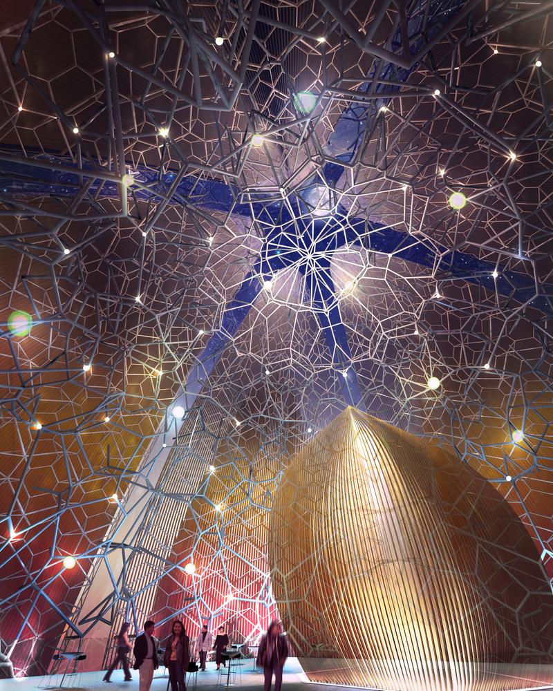 Kiến trúc trung tâm văn hóa nghệ thuật hình dáng bông sen vàng.6