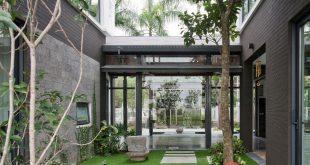 Biệt thự hiện đại phủ màu xanh như resort-1