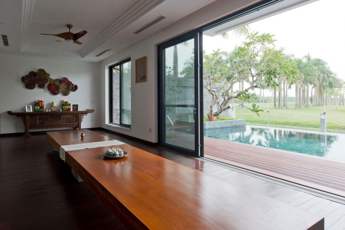 Biệt thự hiện đại phủ màu xanh như resort-10