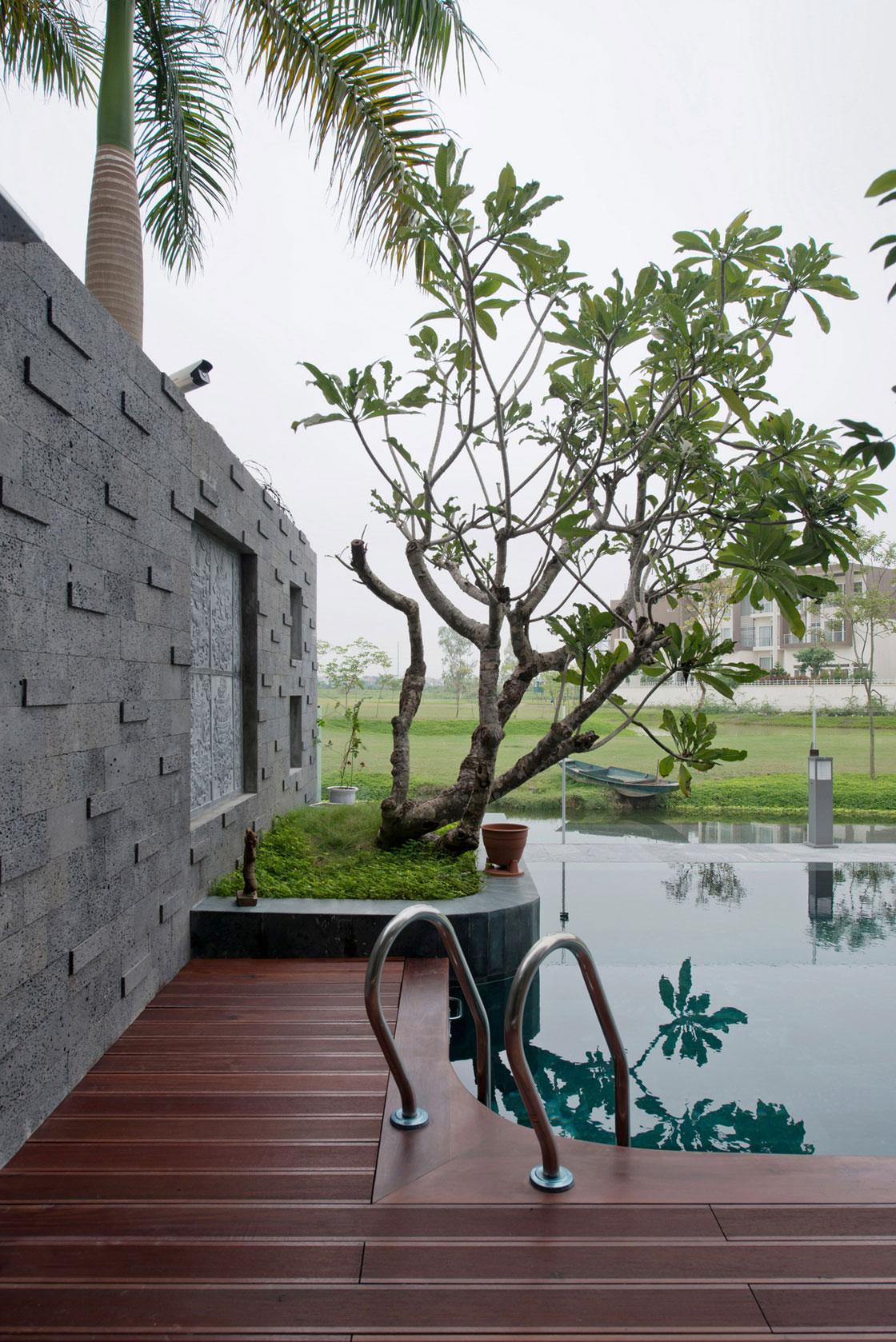 Biệt thự hiện đại phủ màu xanh như resort-11