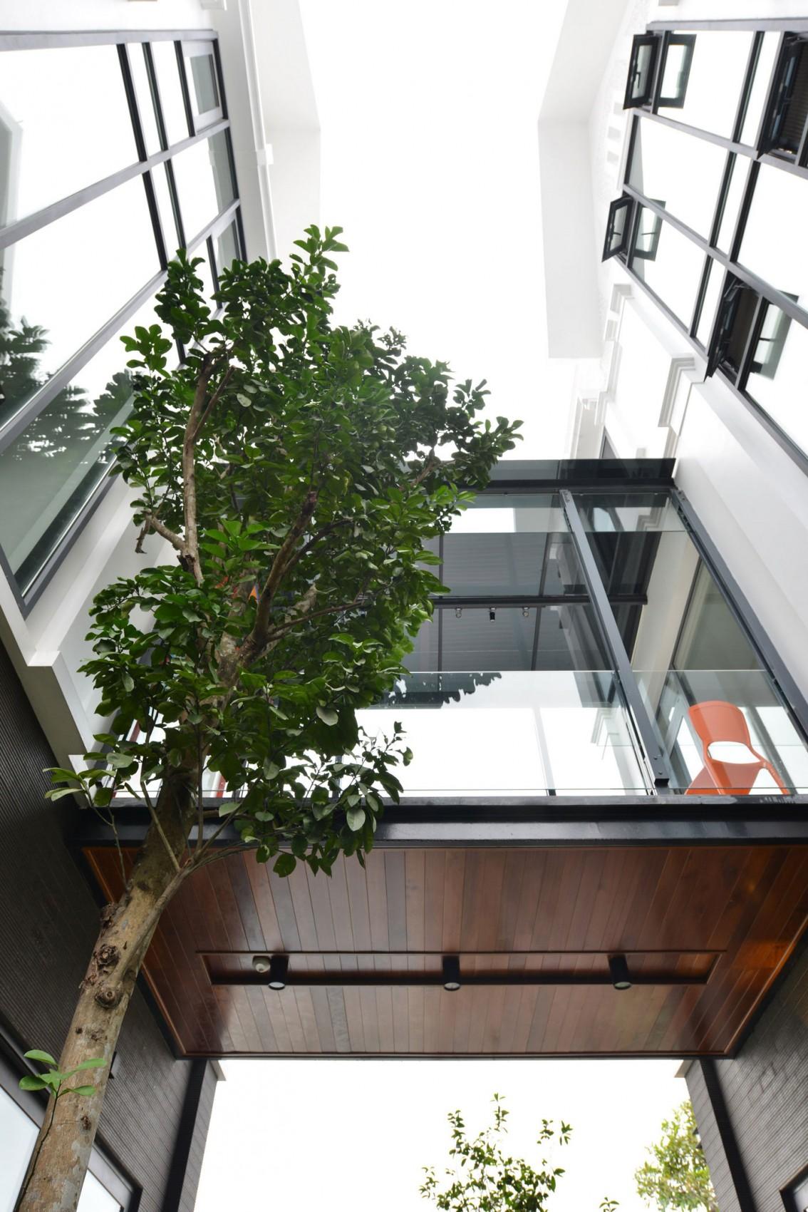 Biệt thự hiện đại phủ màu xanh như resort-4
