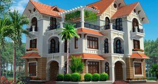 Thiết kế biệt thự 3 tầng mái thái hợp phong thủy