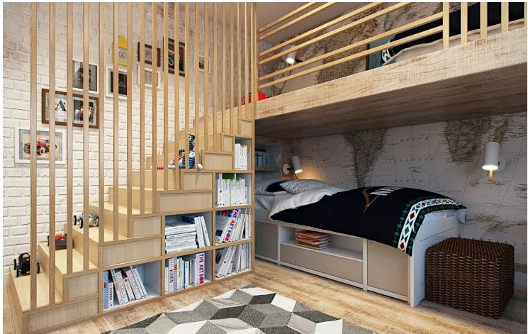 Cách ngăn chia phòng đẹp cho ngôi nhà nhỏ. 2