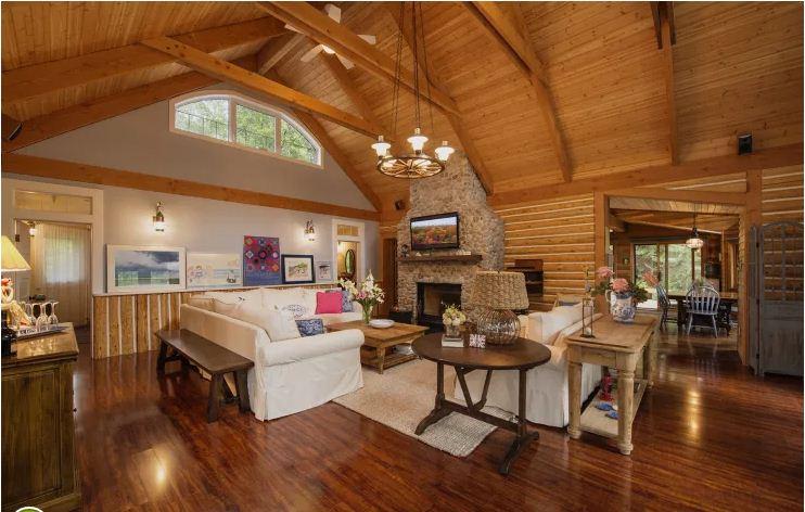 Ngôi nhà gỗ đẹp như mơ ấm cúng. 2