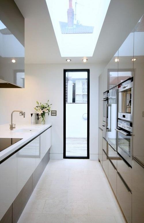 Thiết kế giếng trời cho căn bếp nhà ống. 4