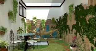 Thiết kế sân vườn xanh mướt giảm nhiệt mùa hè. 2