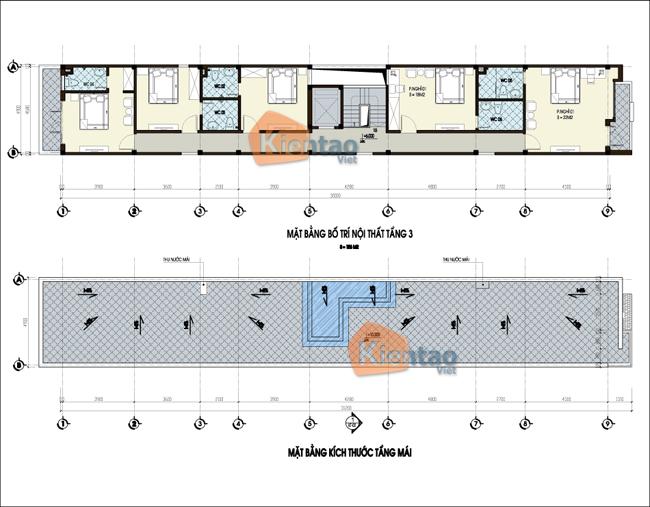 Mẫu nhà ống 3 tầng 5x30m kinh doanh nhà nghỉ. 3