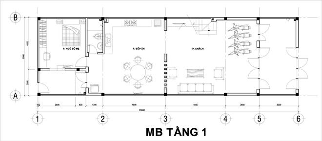 Nhà ống 2 tầng thoáng mát 6x20m ở Hà Nội. 2