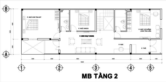 Nhà ống 2 tầng thoáng mát 6x20m ở Hà Nội. 3
