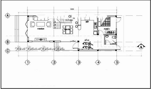 Nhà ống đẹp 2 tầng hiện đại chữ L 6x17m. 1