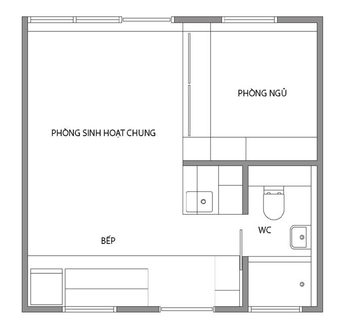 Thiết kế nhà thông minh cho vợ chồng trẻ 24m2. 6