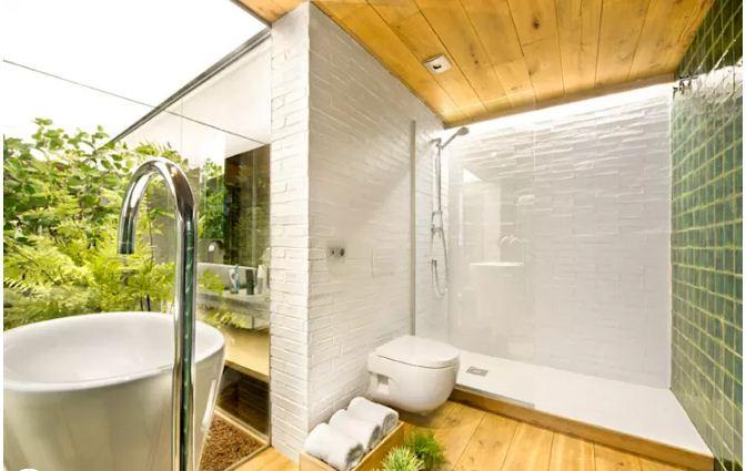 Cách giữ vệ sinh phòng tắm nhà ống hiệu quả. 1