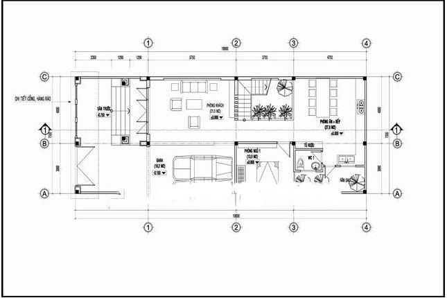 Kiến trúc biệt thự 3 tầng kiểu pháp đẹp 7x16m. 2