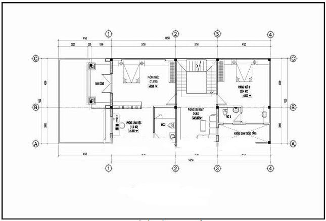 Kiến trúc biệt thự 3 tầng kiểu pháp đẹp 7x16m. 3