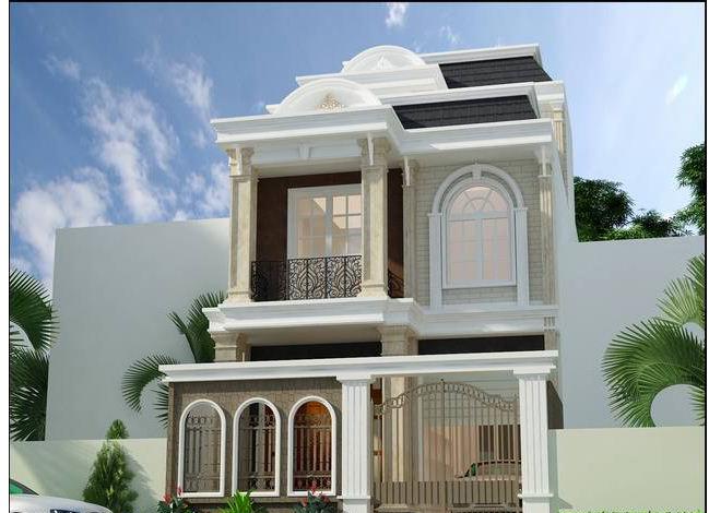 Kiến trúc biệt thự 3 tầng kiểu pháp đẹp 7x16m. 5