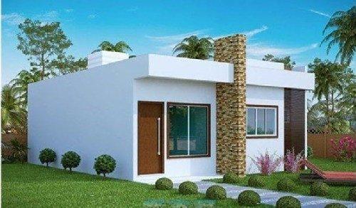 Mẫu nhà mái bằng 1 tầng đẹp chi phí thấp. 2