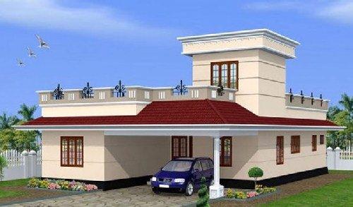 Mẫu nhà mái bằng 1 tầng đẹp chi phí thấp. 4