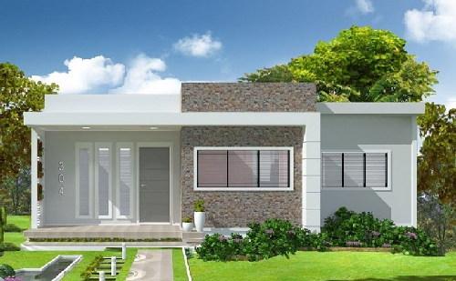 Mẫu nhà mái bằng 1 tầng đẹp chi phí thấp. 7