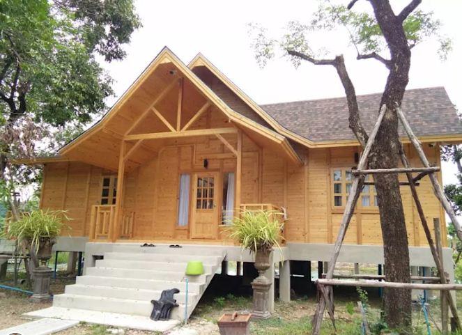 Mẫu thiết kế nhà đẹp bằng gỗ ấn tượng. 5