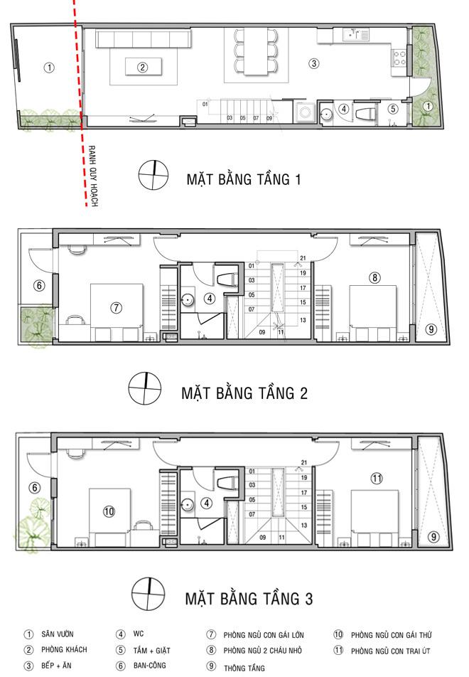 Nhà ống 3 tầng 4x16m 3 chị em chung sống. 2