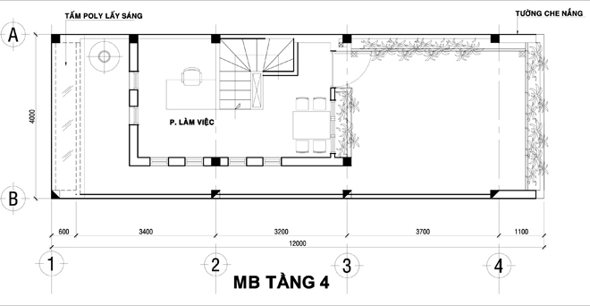 Nhà ống hiện đại 4 tầng 51m2 ở Hà Nam. 4