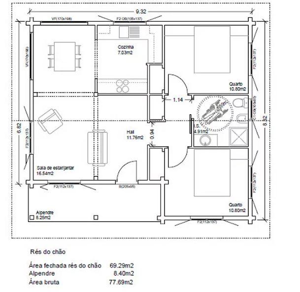 Nhà vườn đơn giản với nội thất cực chất 78m2. 3
