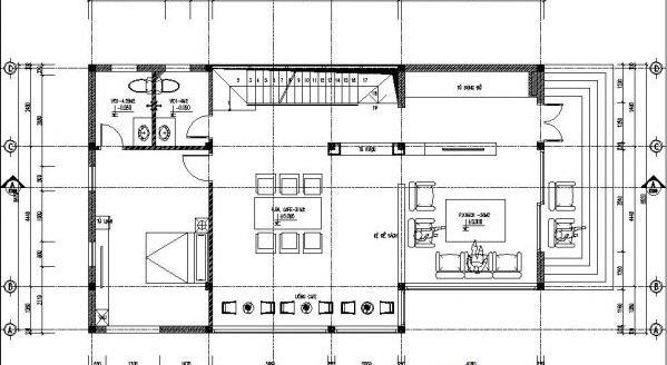 Thiết kế biệt thự đẹp 2 tầng mái lệch 9x14m. 3