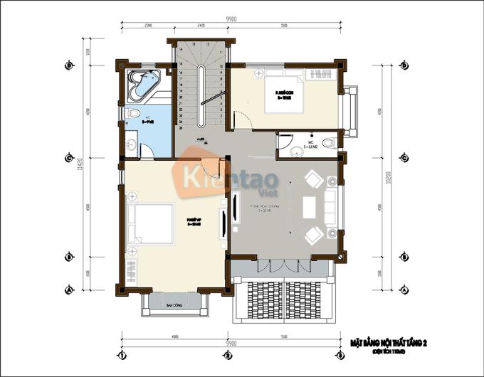 Biệt thự 3 tầng cổ điển trên diện tích 430m2. 3