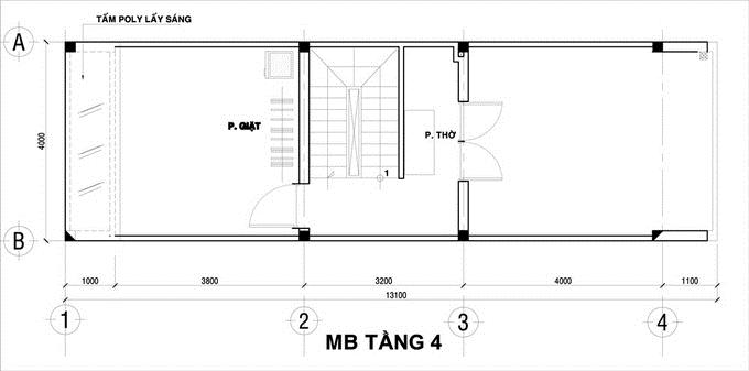 Thiết kế nhà ống đẹp 4 tầng thoáng mát 48m2. 5