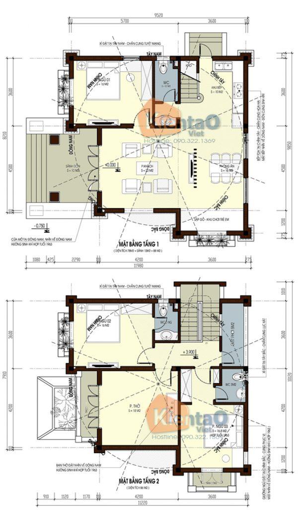 Biệt thự 2 tầng cổ điển tại Chúc Sơn. 2
