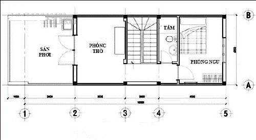Thiết kế nhà ống 3 tầng 45,5m2 chi phí rẻ. 4