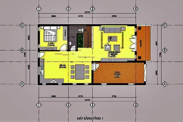 Biệt thự 2 tầng mái thái gần gũi với làng quê. 2